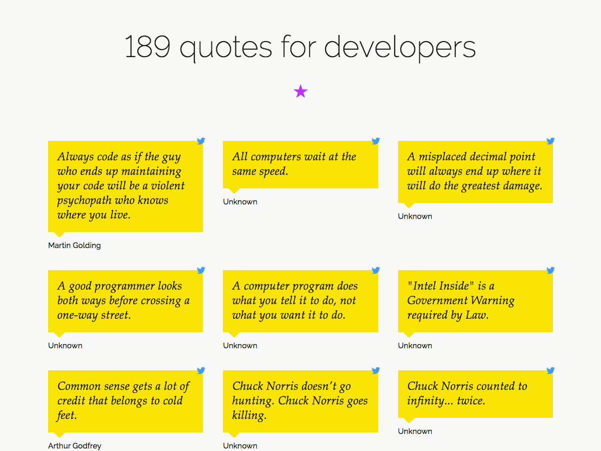 189 quotes for developers
