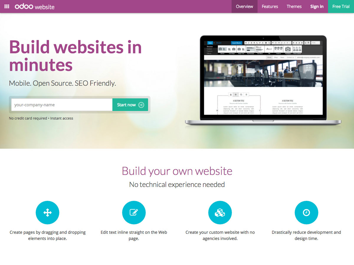 odoo website