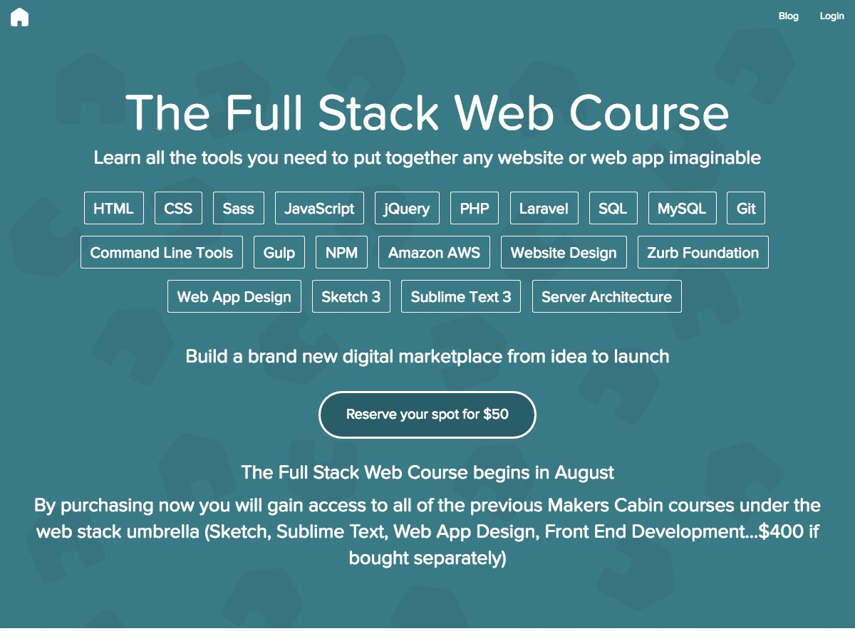 full stack web course