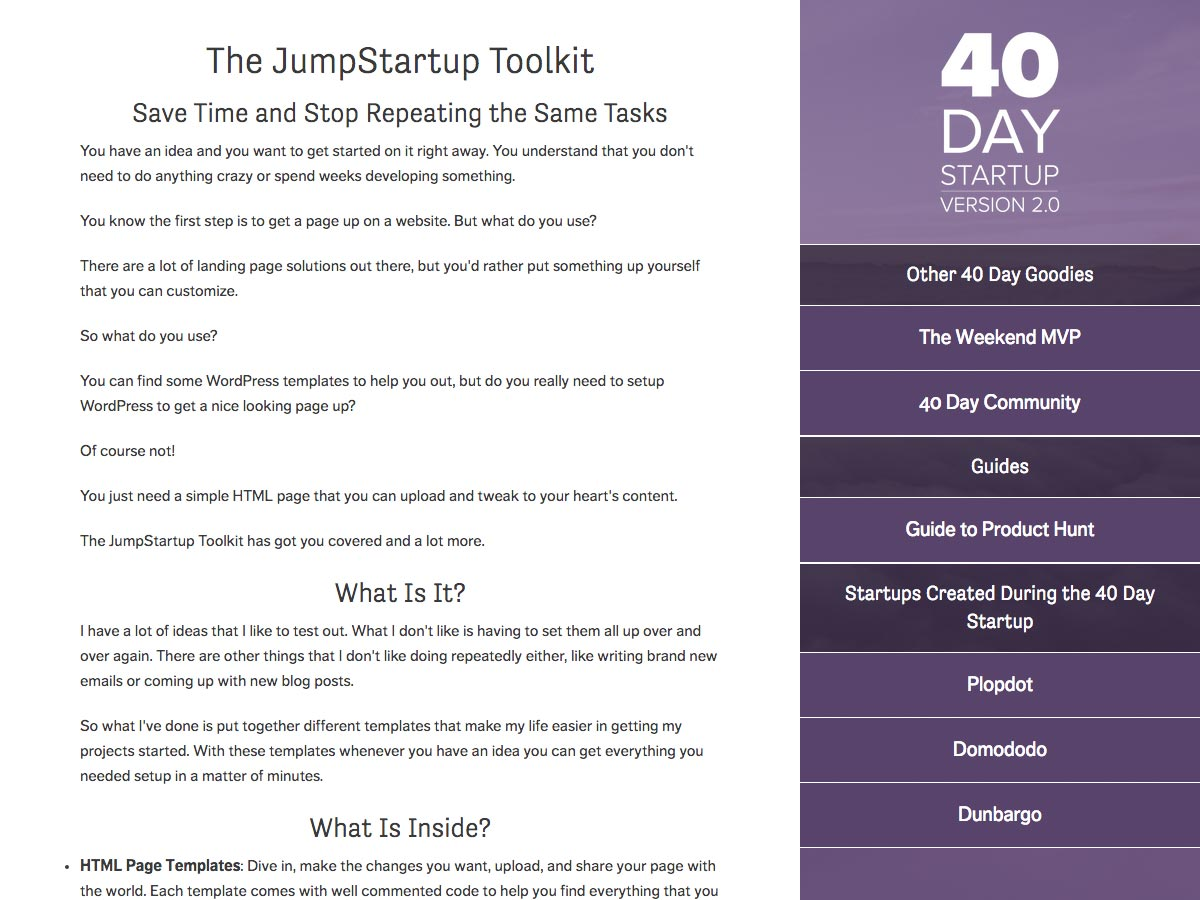 jumpstartup toolkit