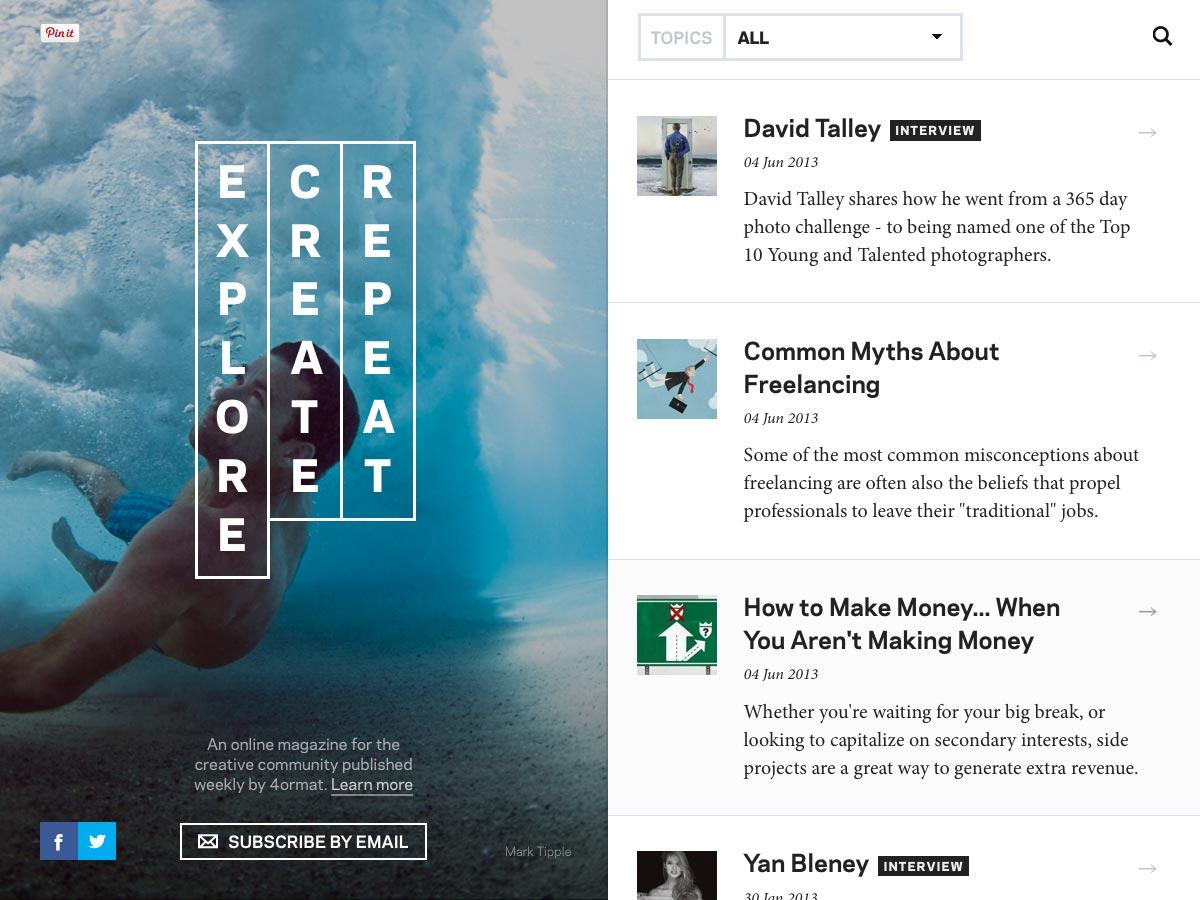 explore create repeat