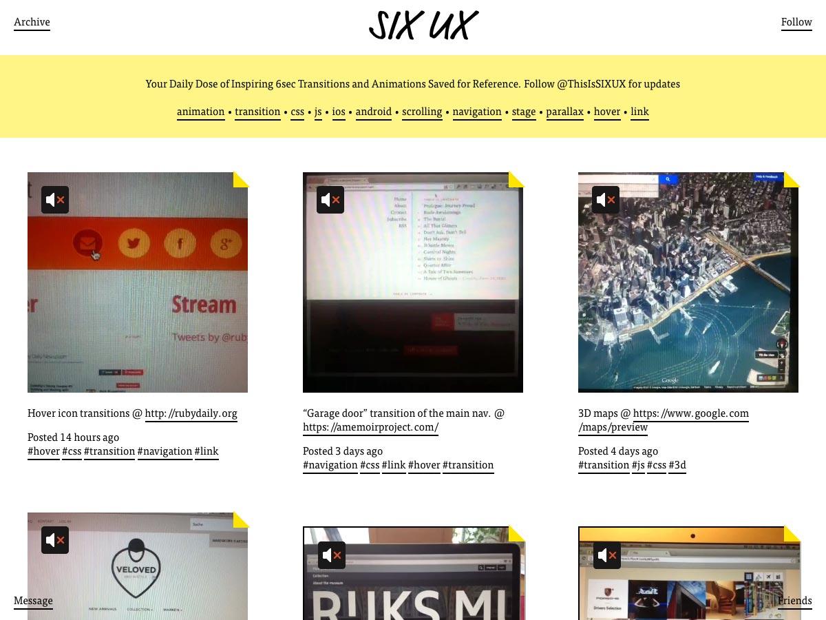 six ux