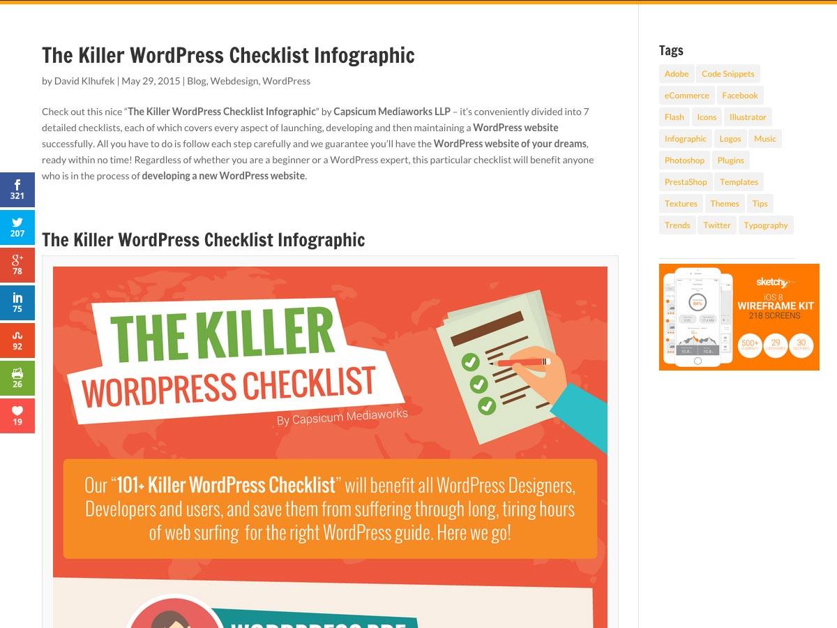 killer wp checklist