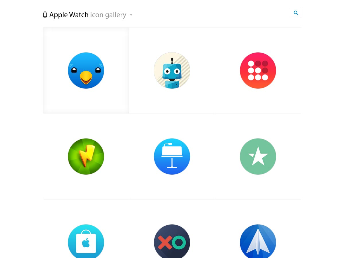 apple watch icon gallery