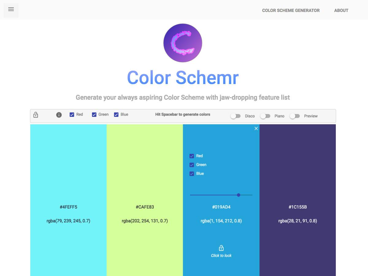 color schemr