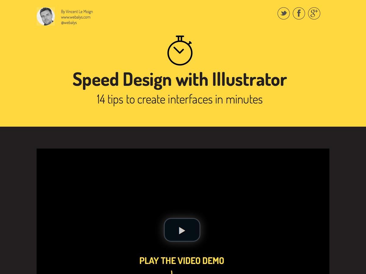 speed design with illustrator