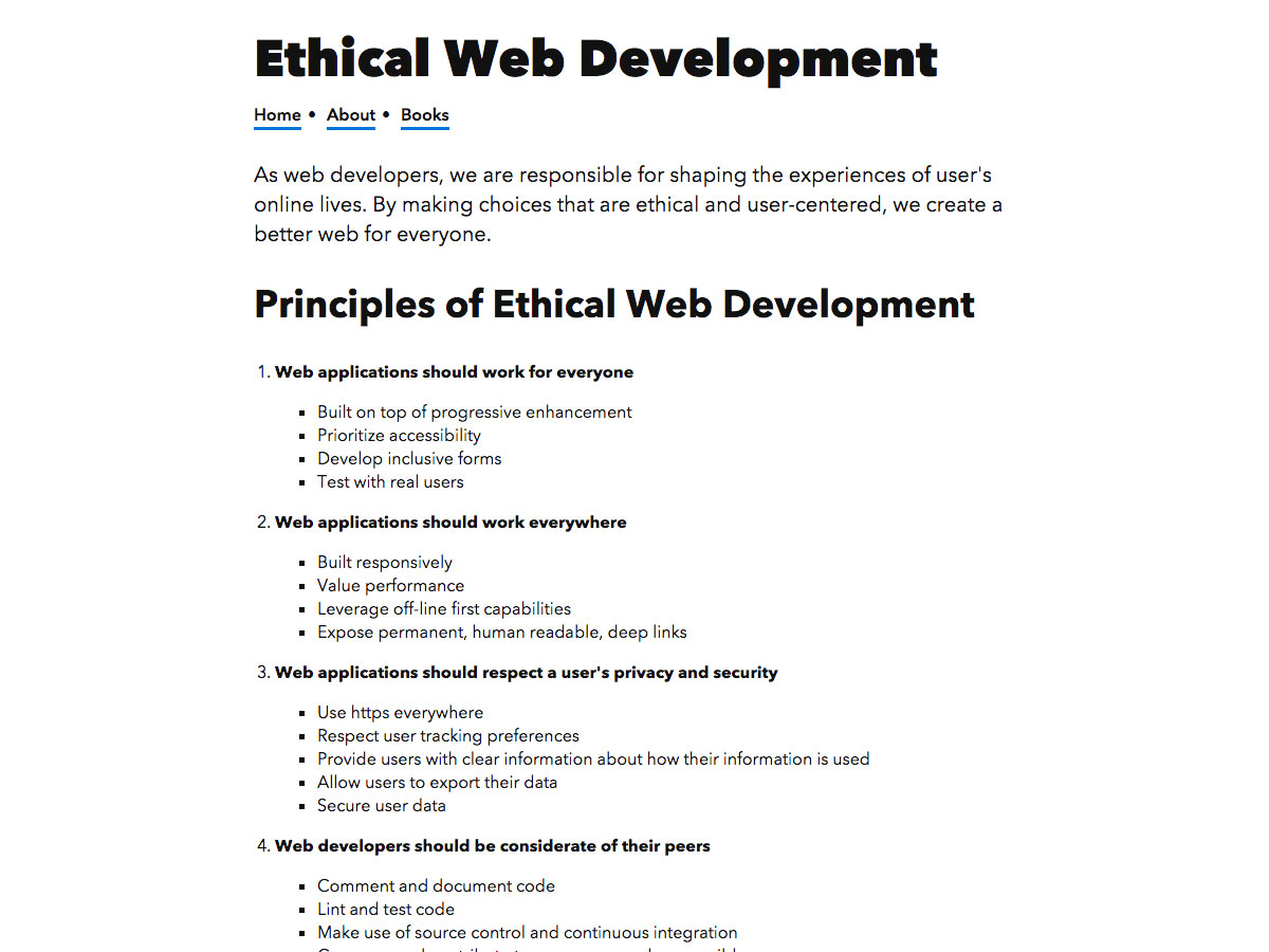 ethical web