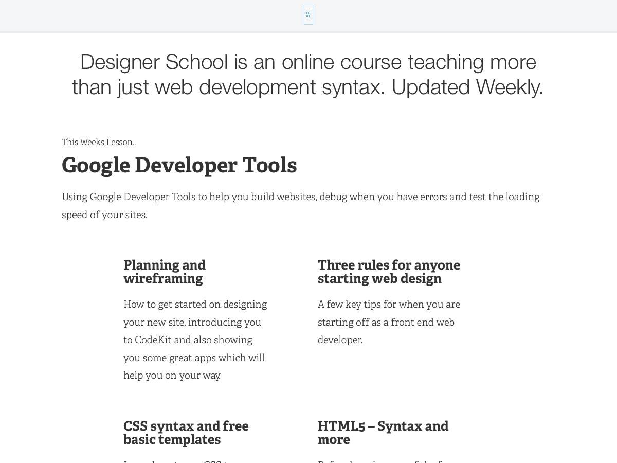 designer school