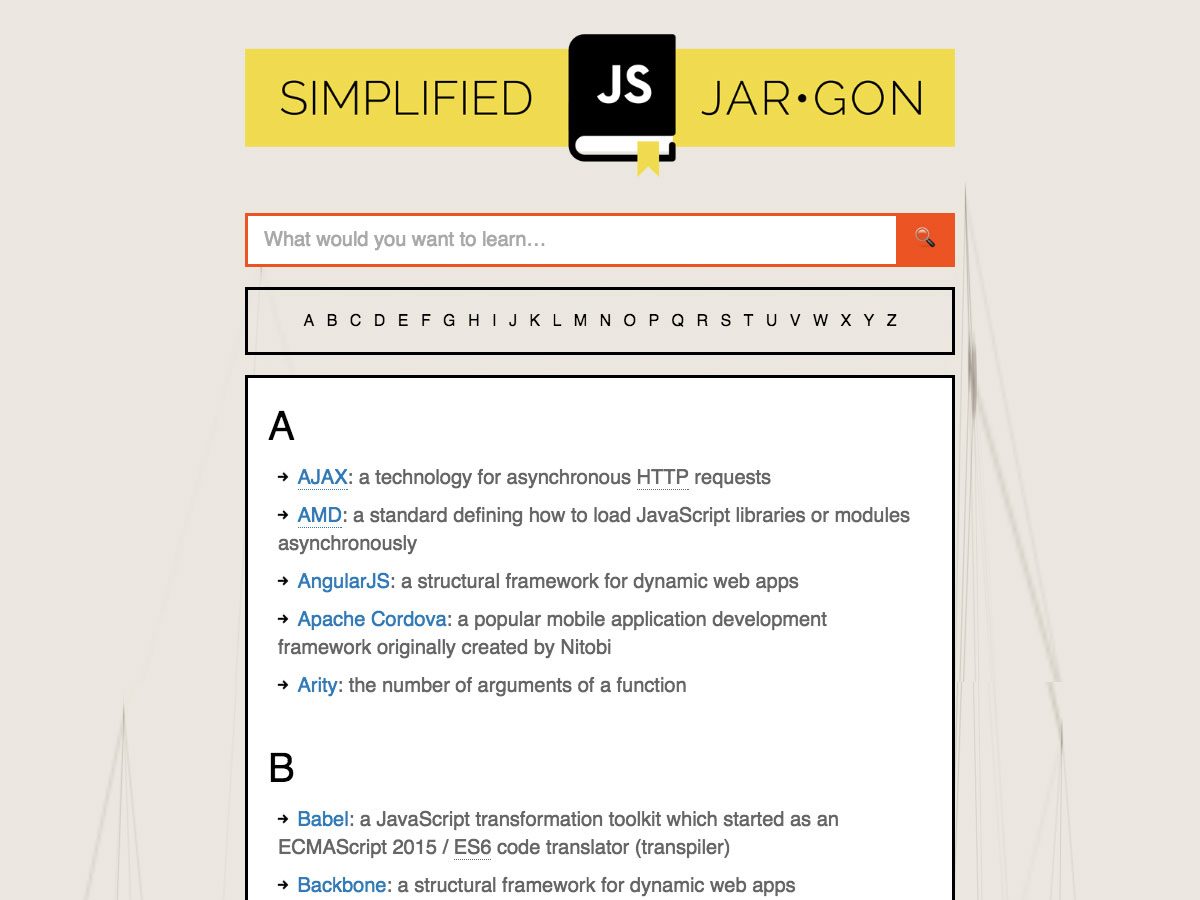 simplified javascript jargon