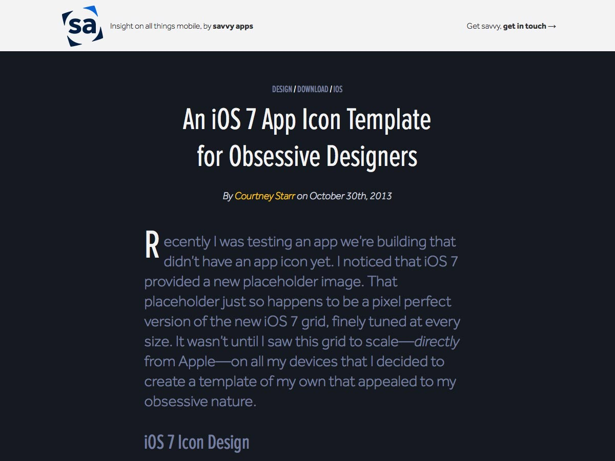 ios7 app icon template