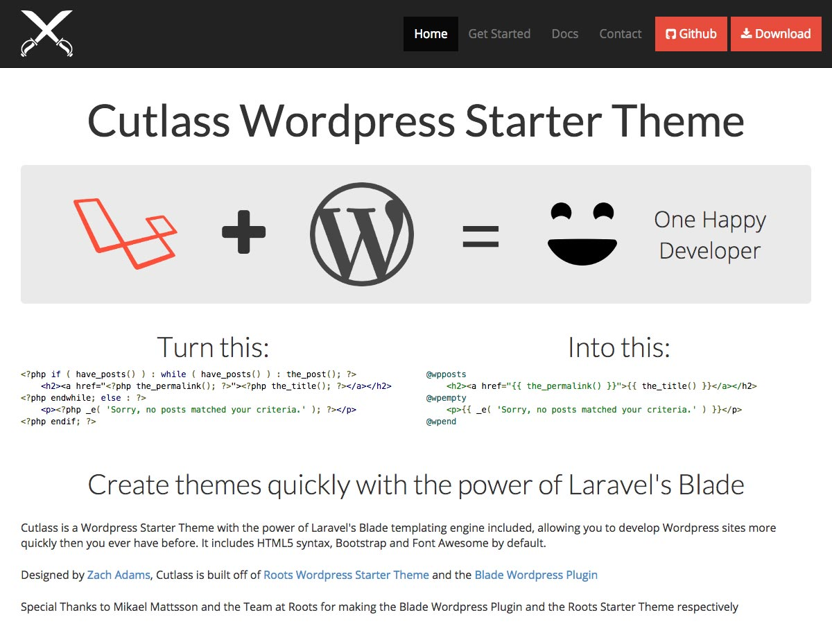 cutlass wp starter theme