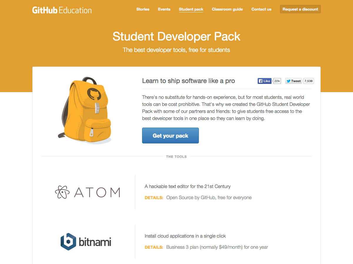 student developer pack