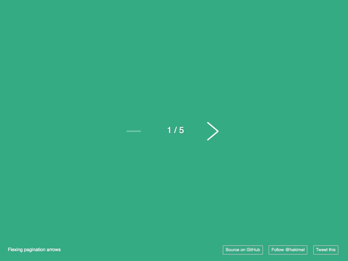 flexing pagination arrows