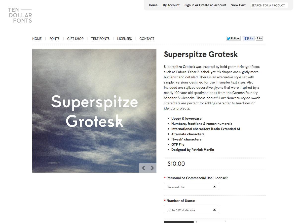 superspitze grotesk