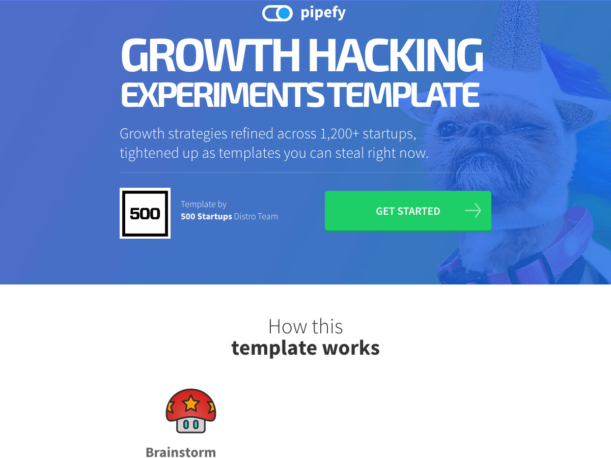 growth hacking experiments template