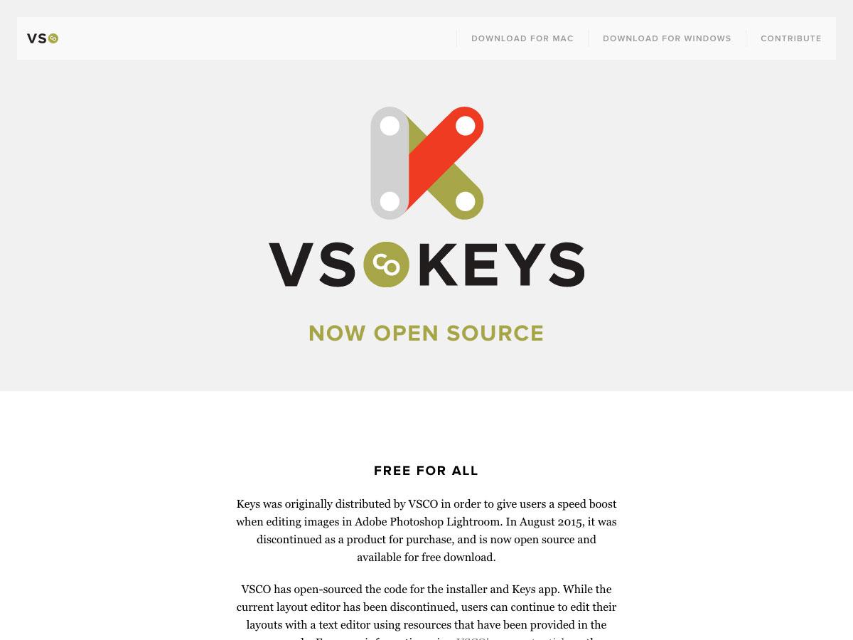 vsco keys