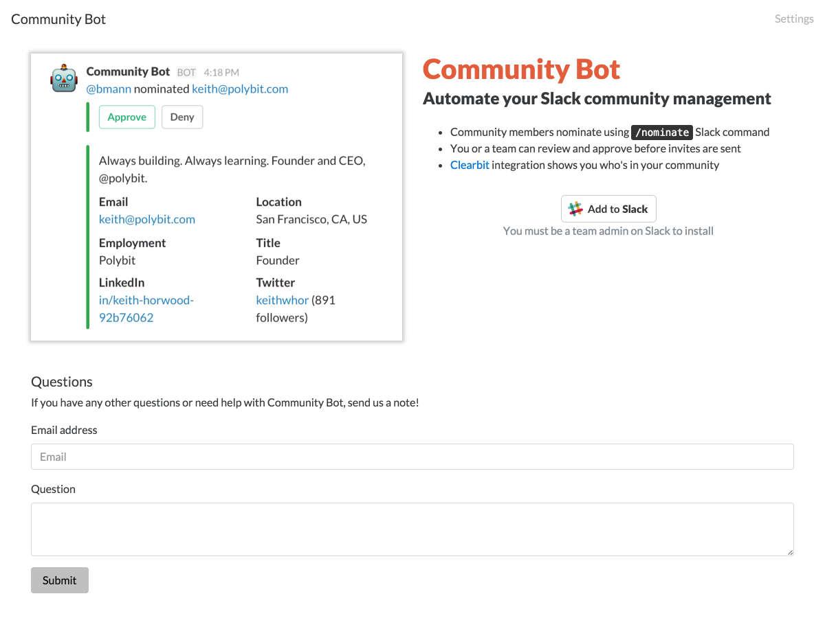 community bot
