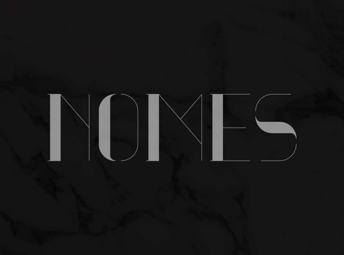 nomes free font