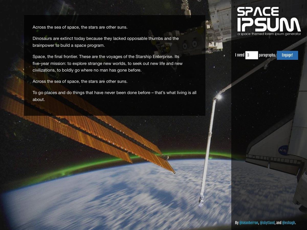 space ipsum