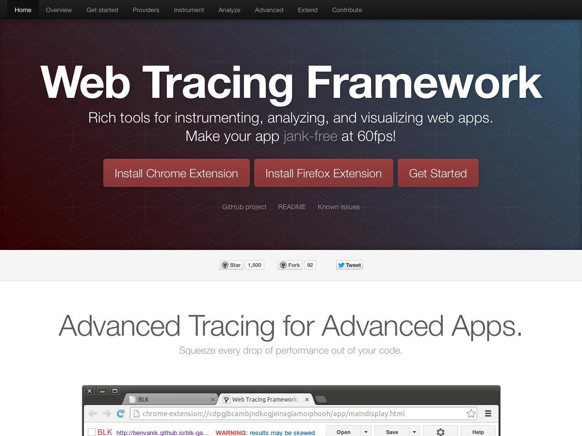 web tracing framework