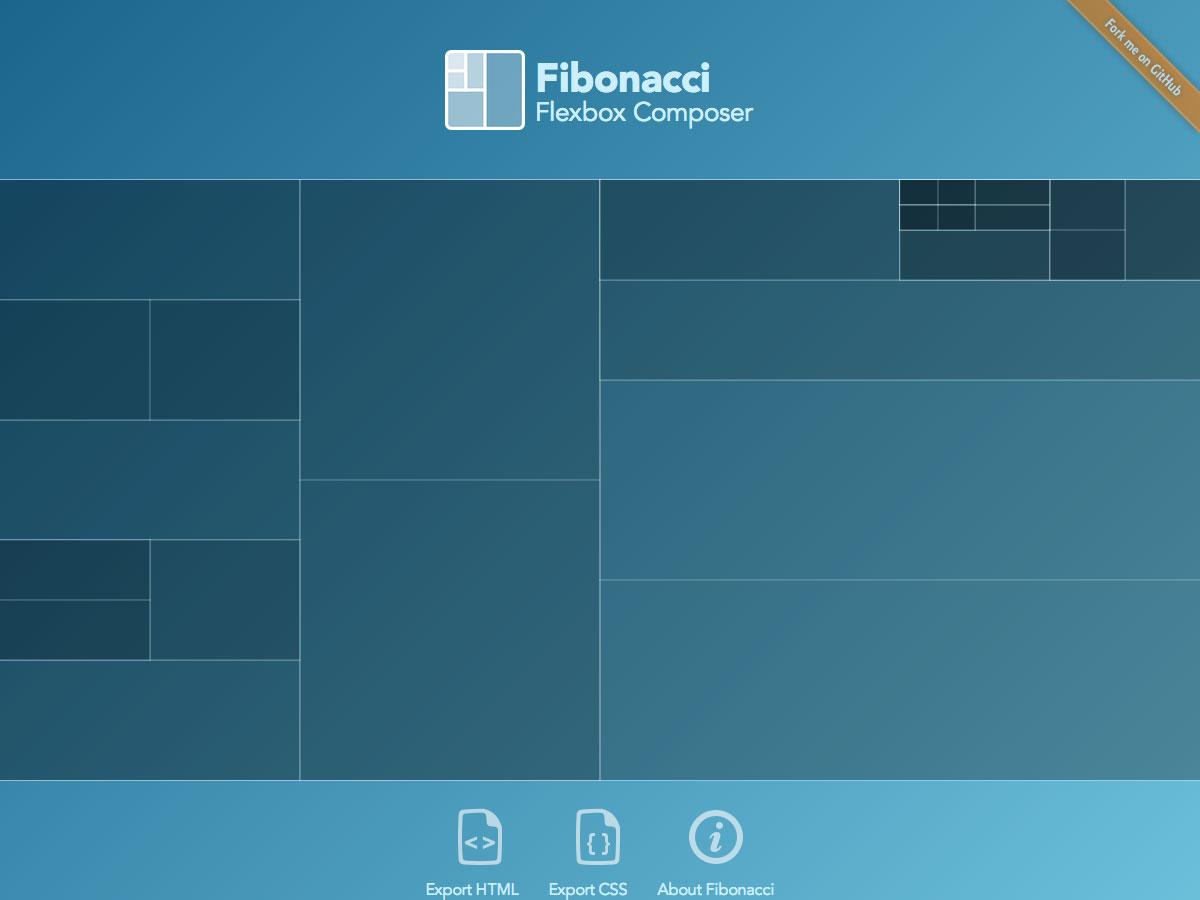 fibonacci flexbox composer