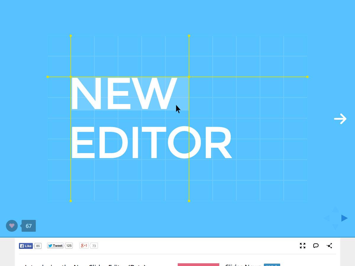 new slides editor