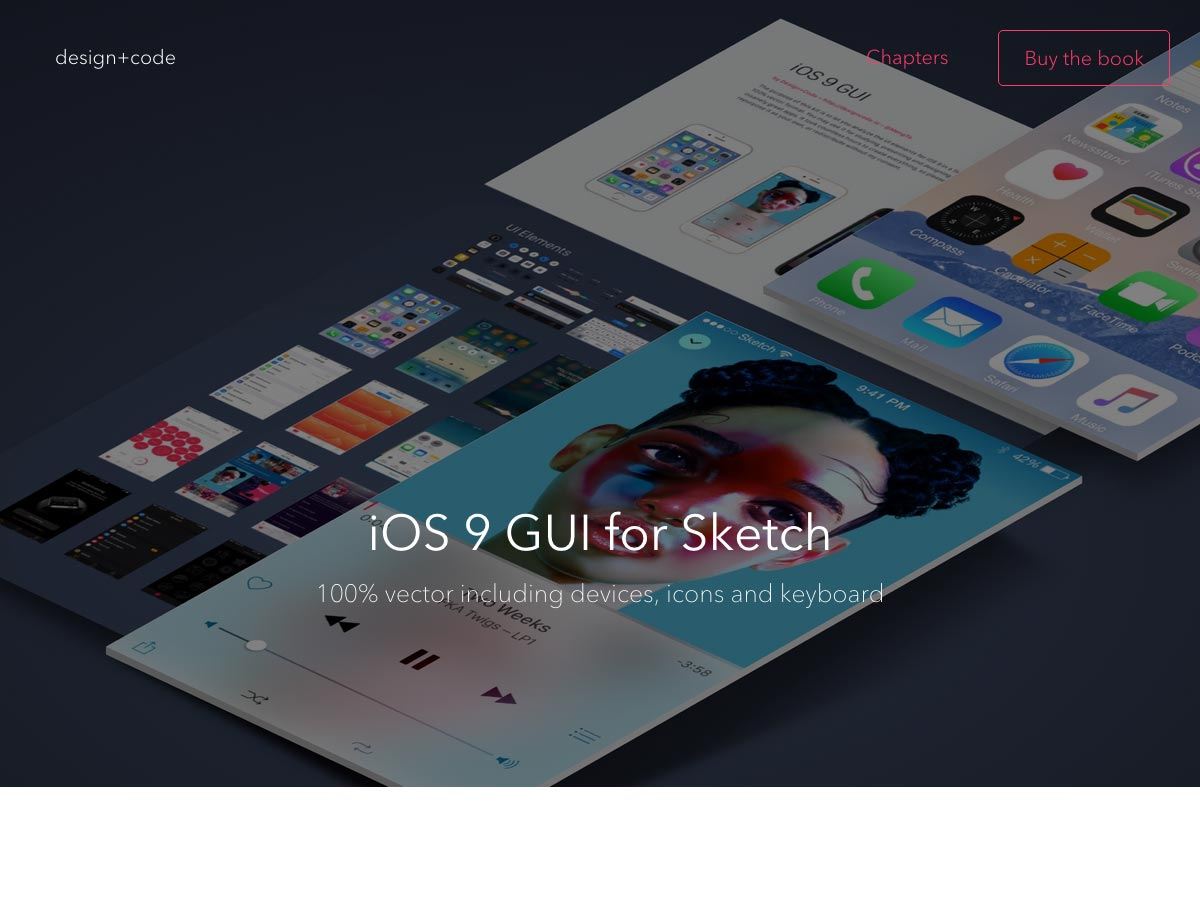 ios9 gui for sketch