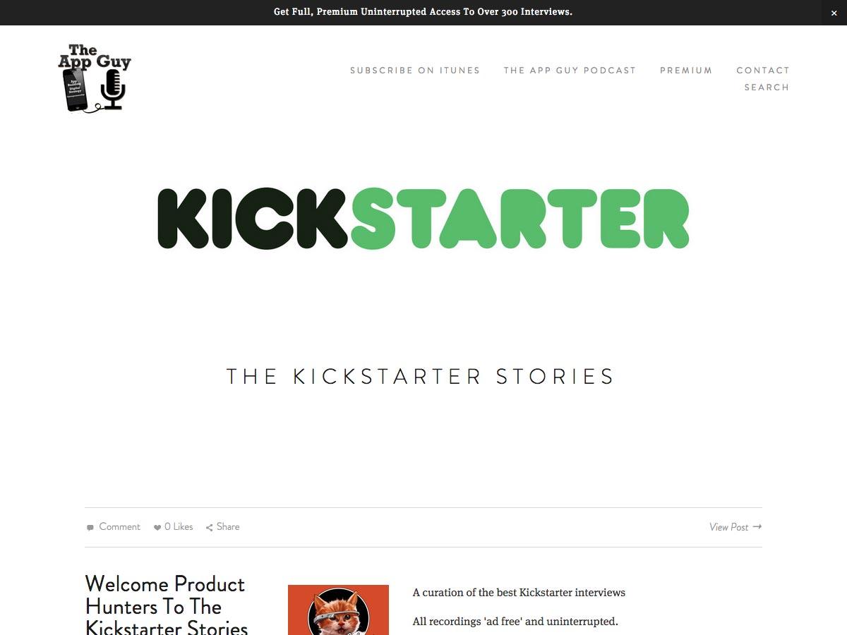 kickstarter stories