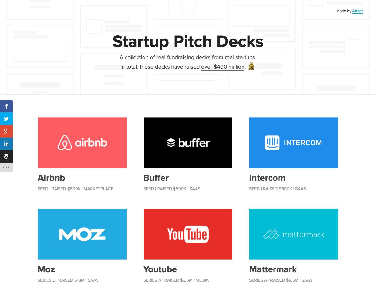Startup Pitch Decks