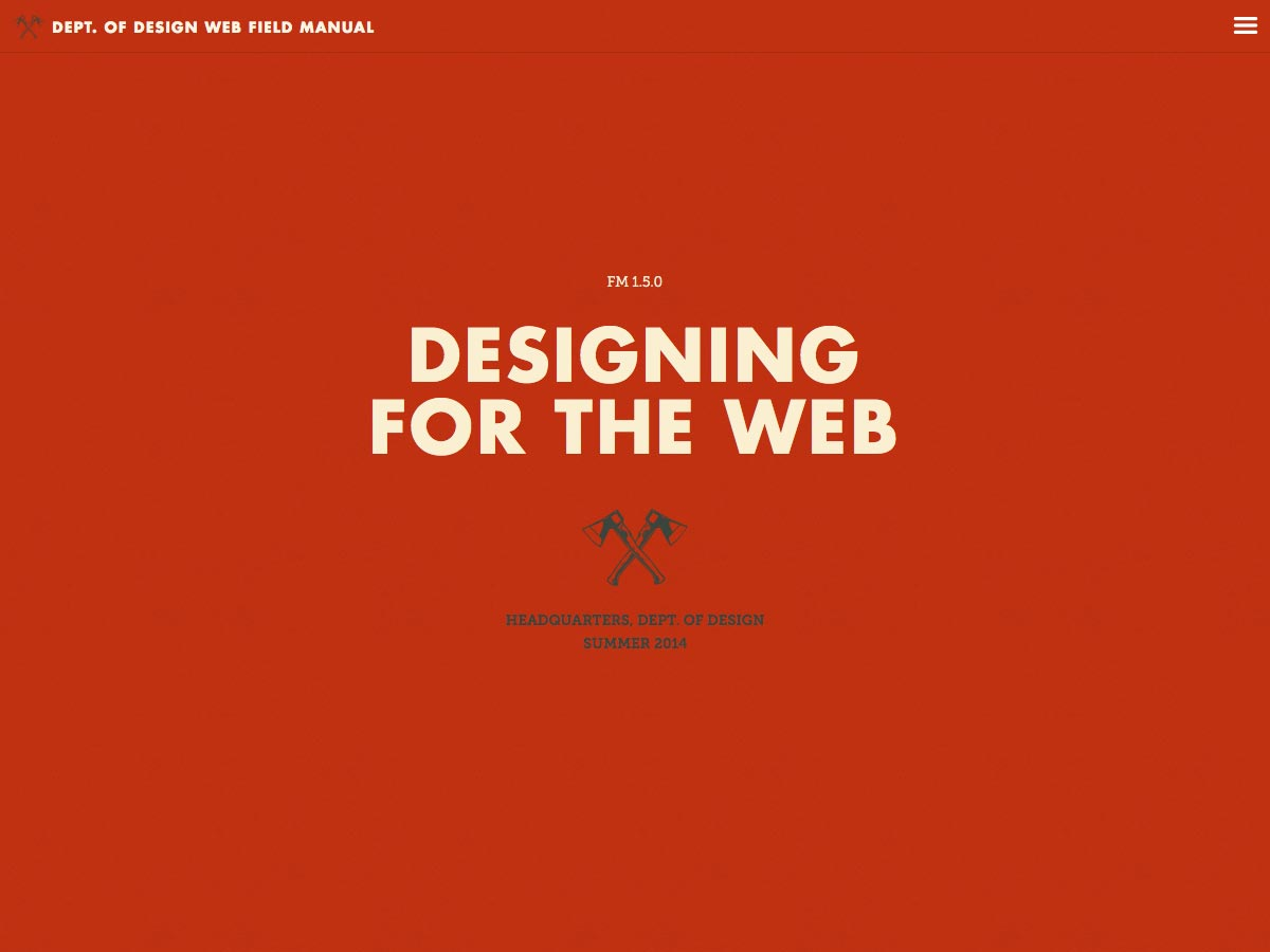 Dept. of Design Web Field Manual
