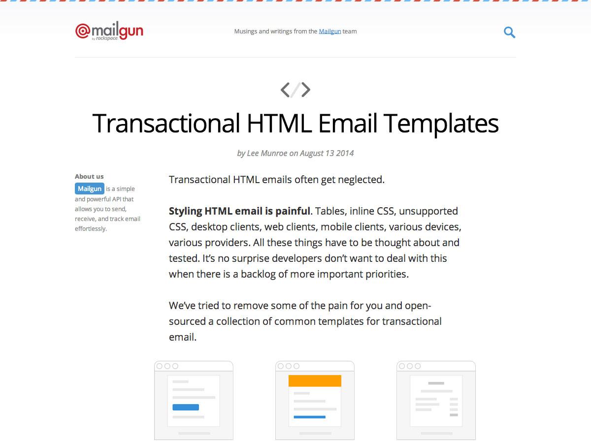 事务性HTML电子邮件模板