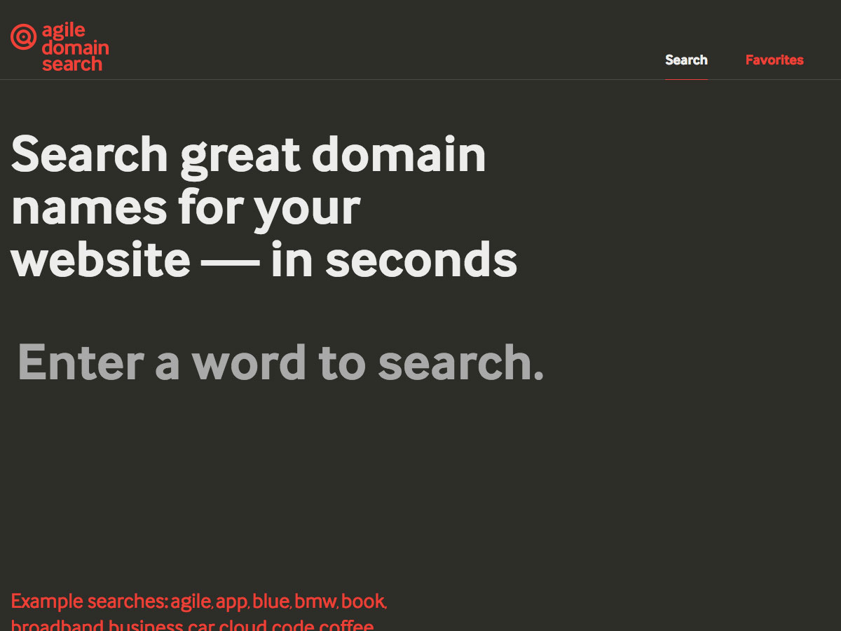 Agile Domain Search