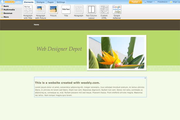 Weebly online website maker